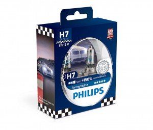 ! PHILIPS RACING VISION+150% H7 12V PX26D DUO