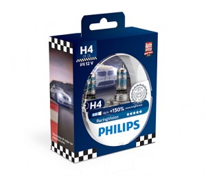 ! PHILIPS RACING VISION+150% H4 12V PX26D DUO
